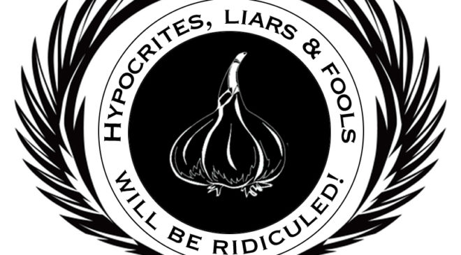 Stanken Rose Official Seal with text Hypocrites, Liars and Fools Will Be Ridiculed