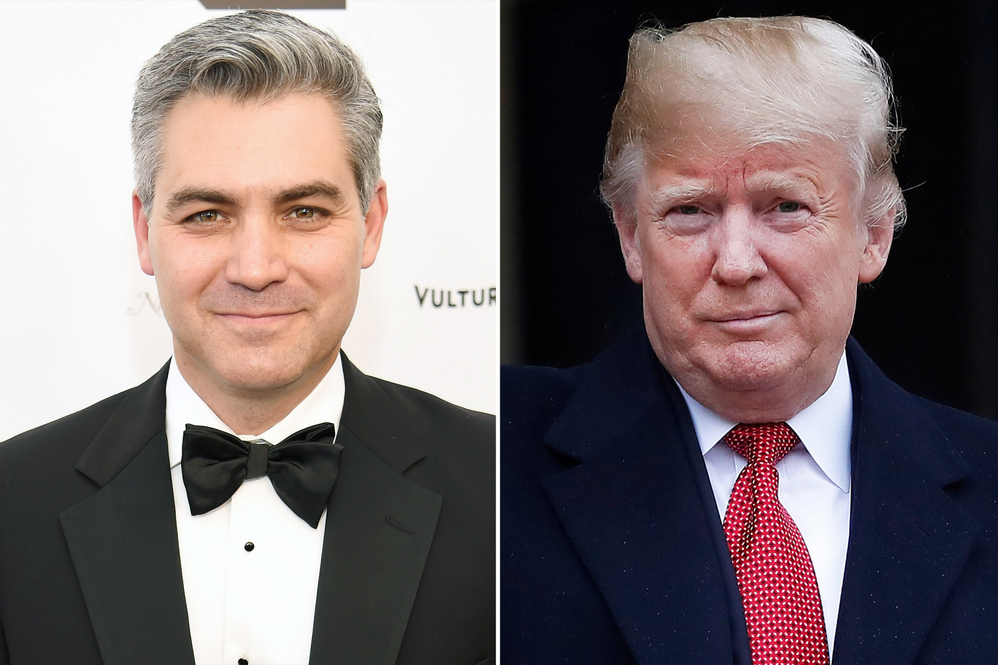 Jim Acosta and President Trump in tuxedos
