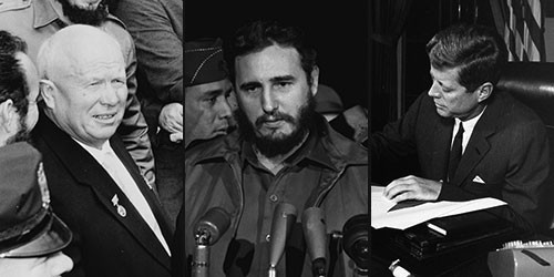 Khrushchev, Castro, and Kennedy. Lucky for us, THEY flinched, not us.